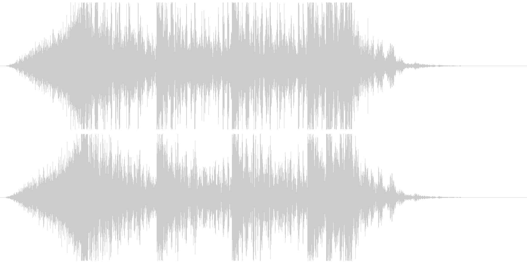 壮大で激しいリズムのサウンドロゴC(長)の未再生の波形