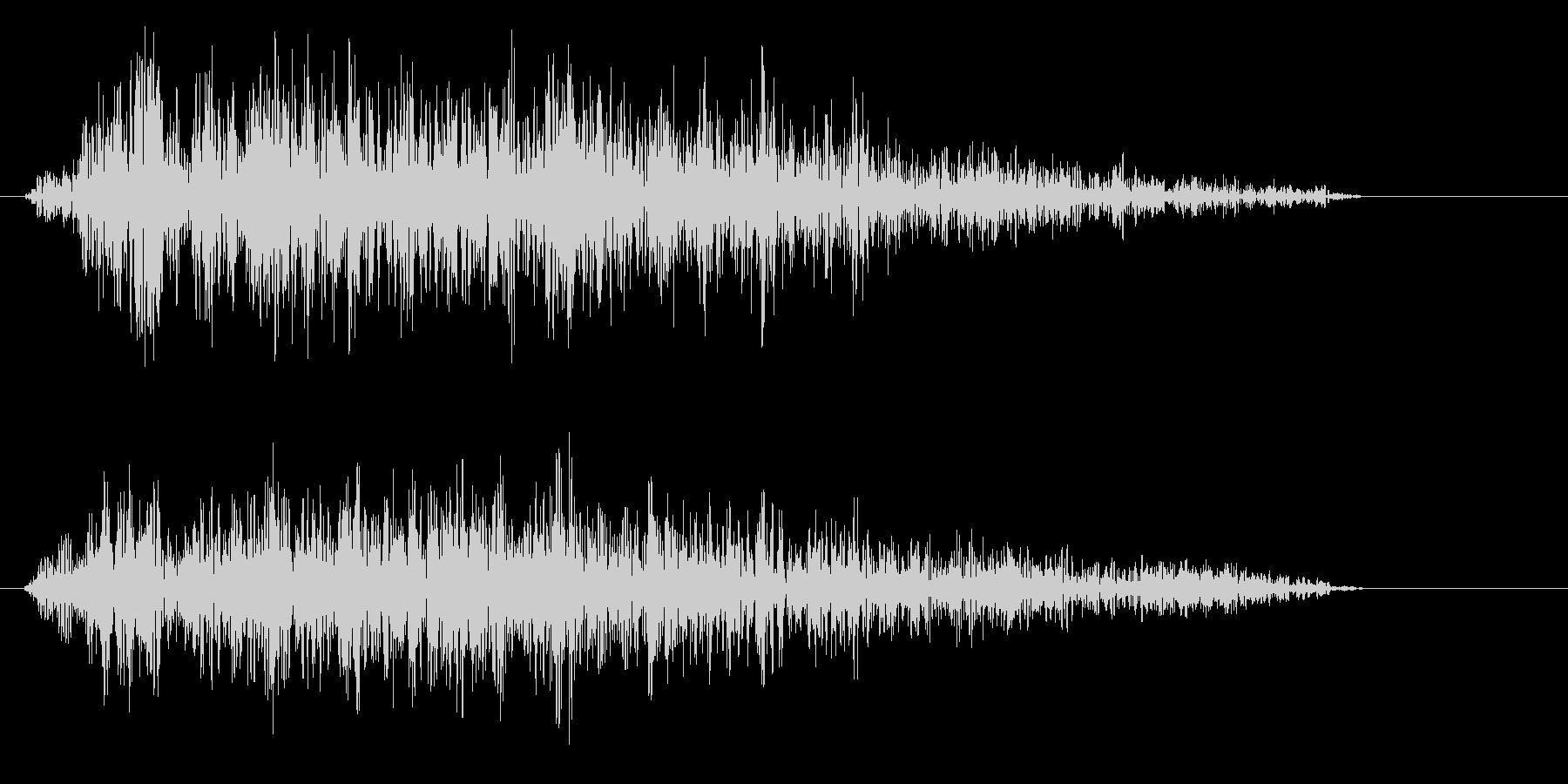 ザーッという摩擦系の音の未再生の波形