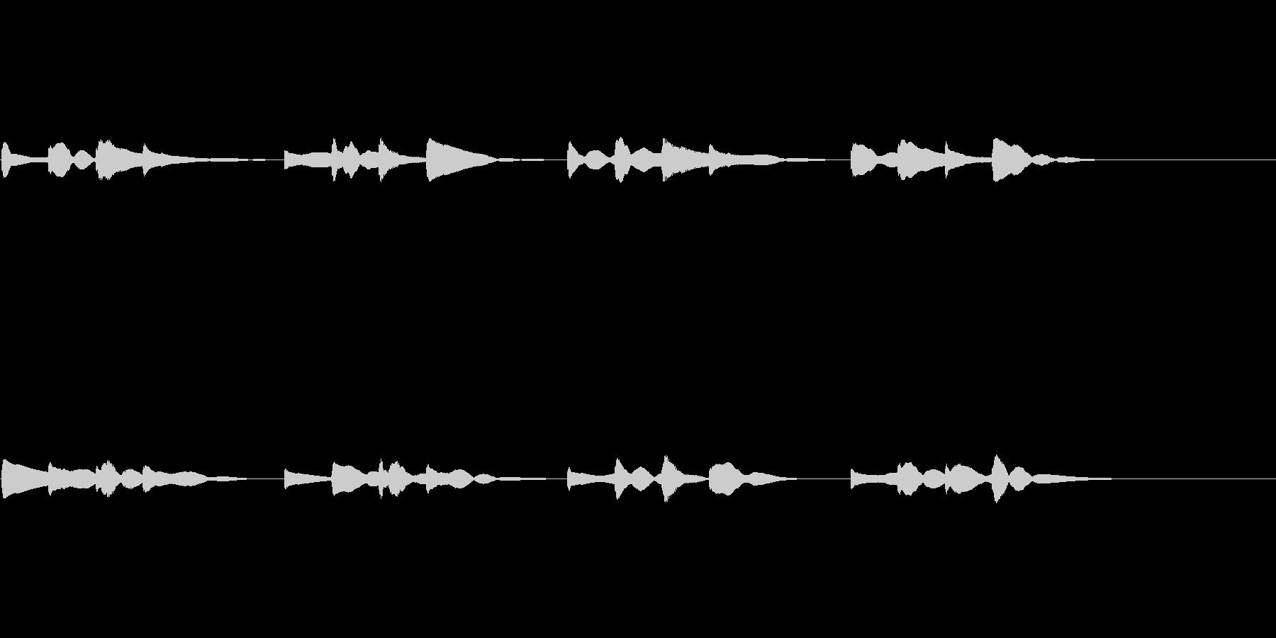 チャイム エコーあり用の未再生の波形