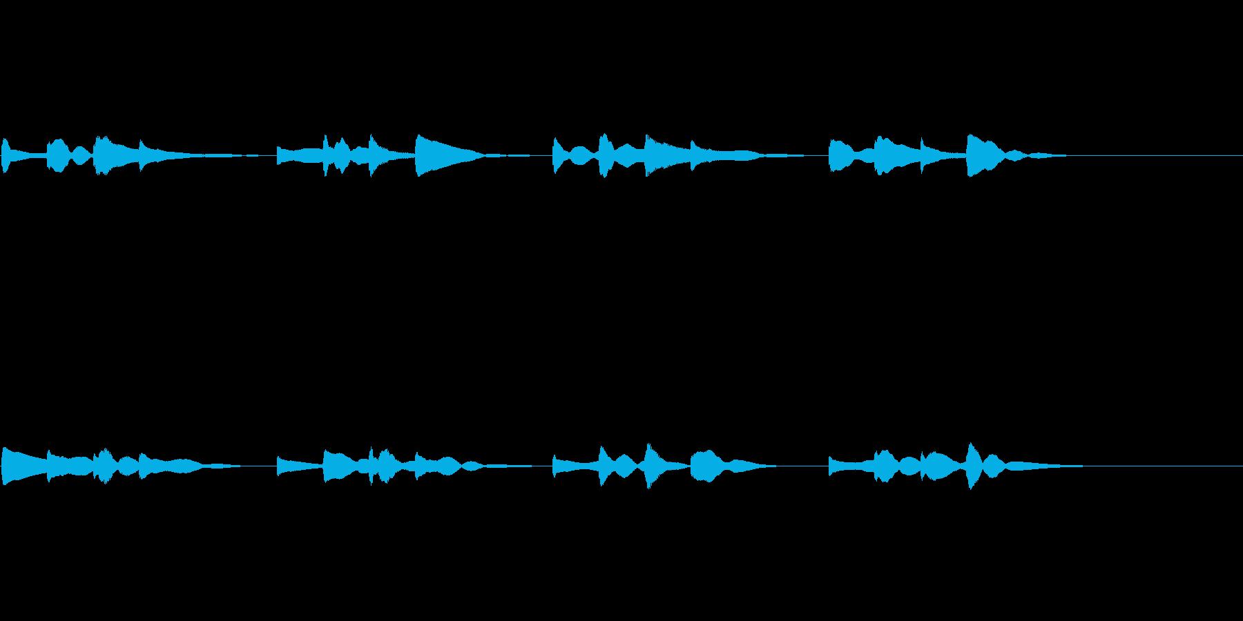 チャイム エコーあり用の再生済みの波形