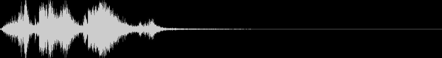 銃弾をロードする際の音の未再生の波形