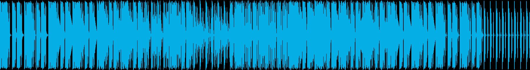 ドラムとベースが主体の曲ですの再生済みの波形