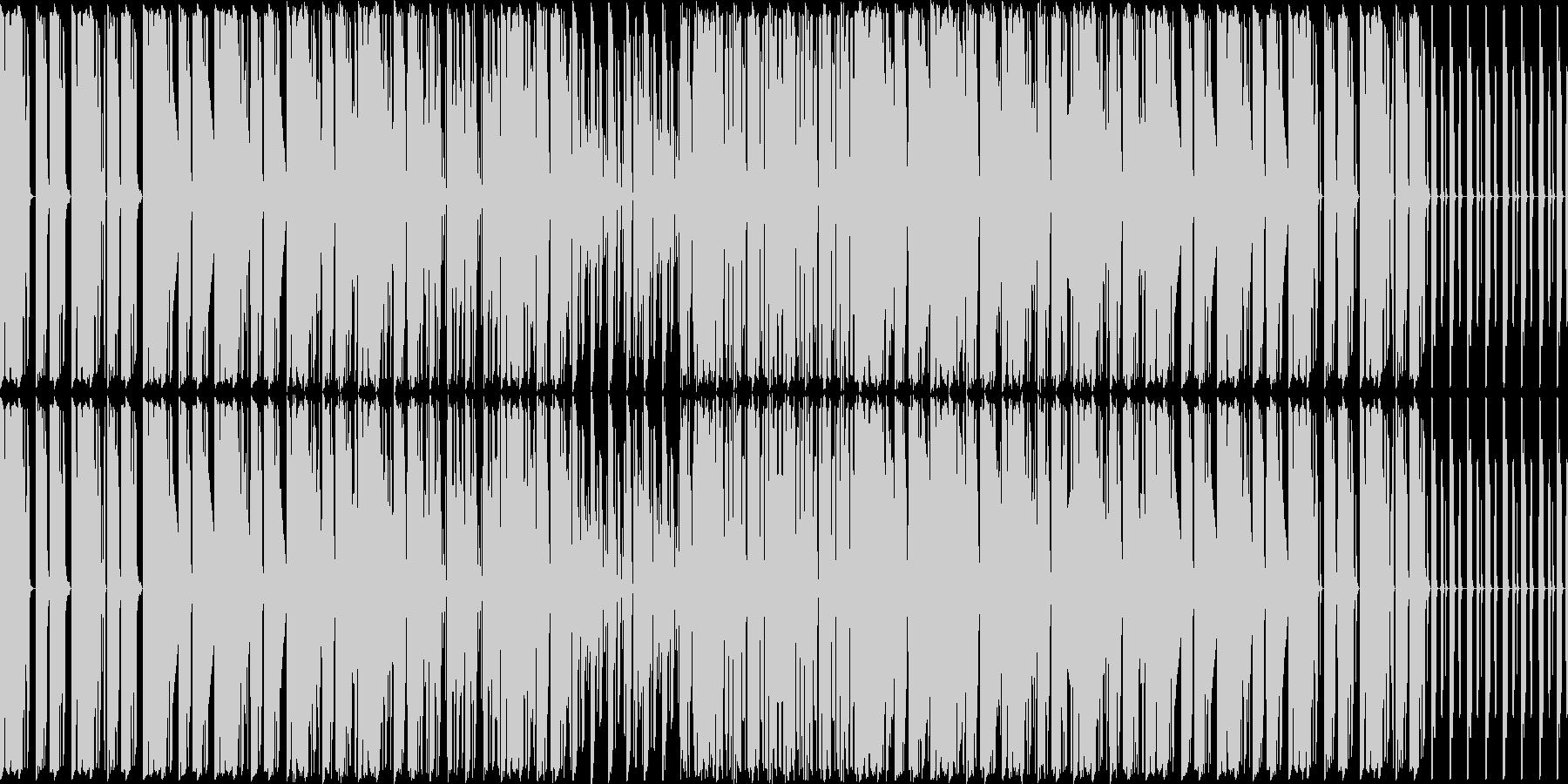 ドラムとベースが主体の曲ですの未再生の波形