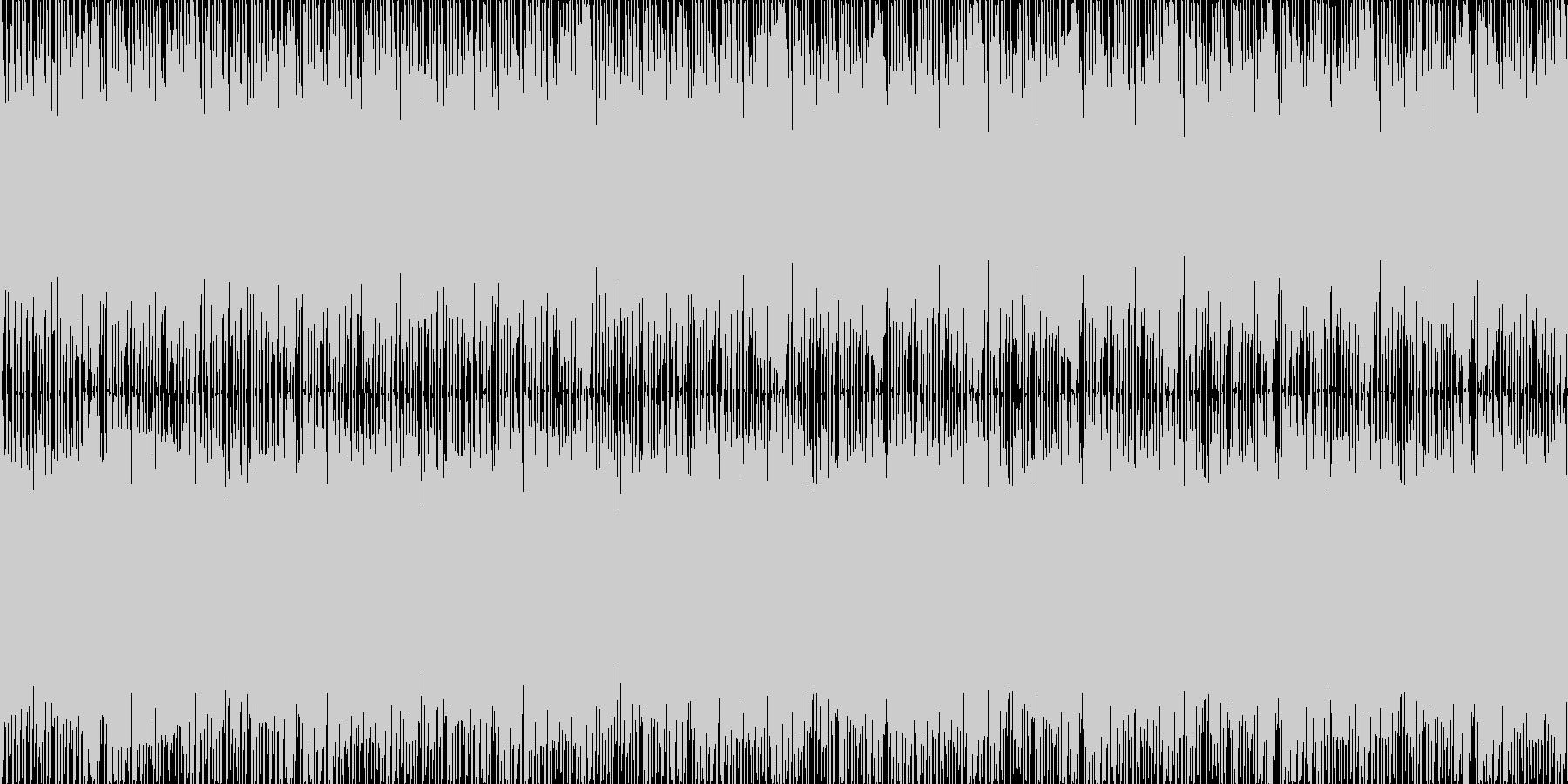 浮遊感と近未来感。 生演奏ループ音源の未再生の波形