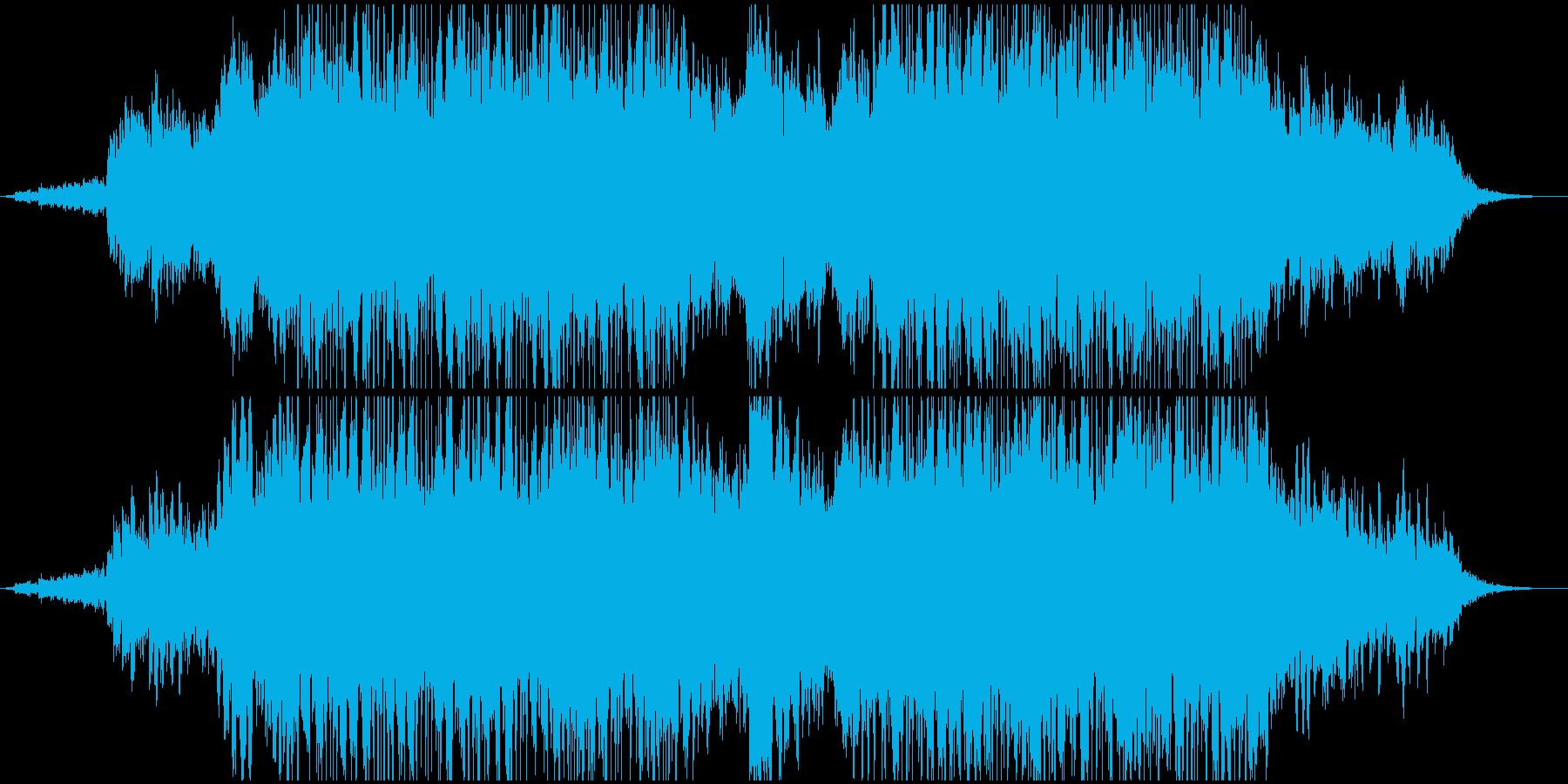 宇宙空間にいる様な浮遊間のあるBGMの再生済みの波形