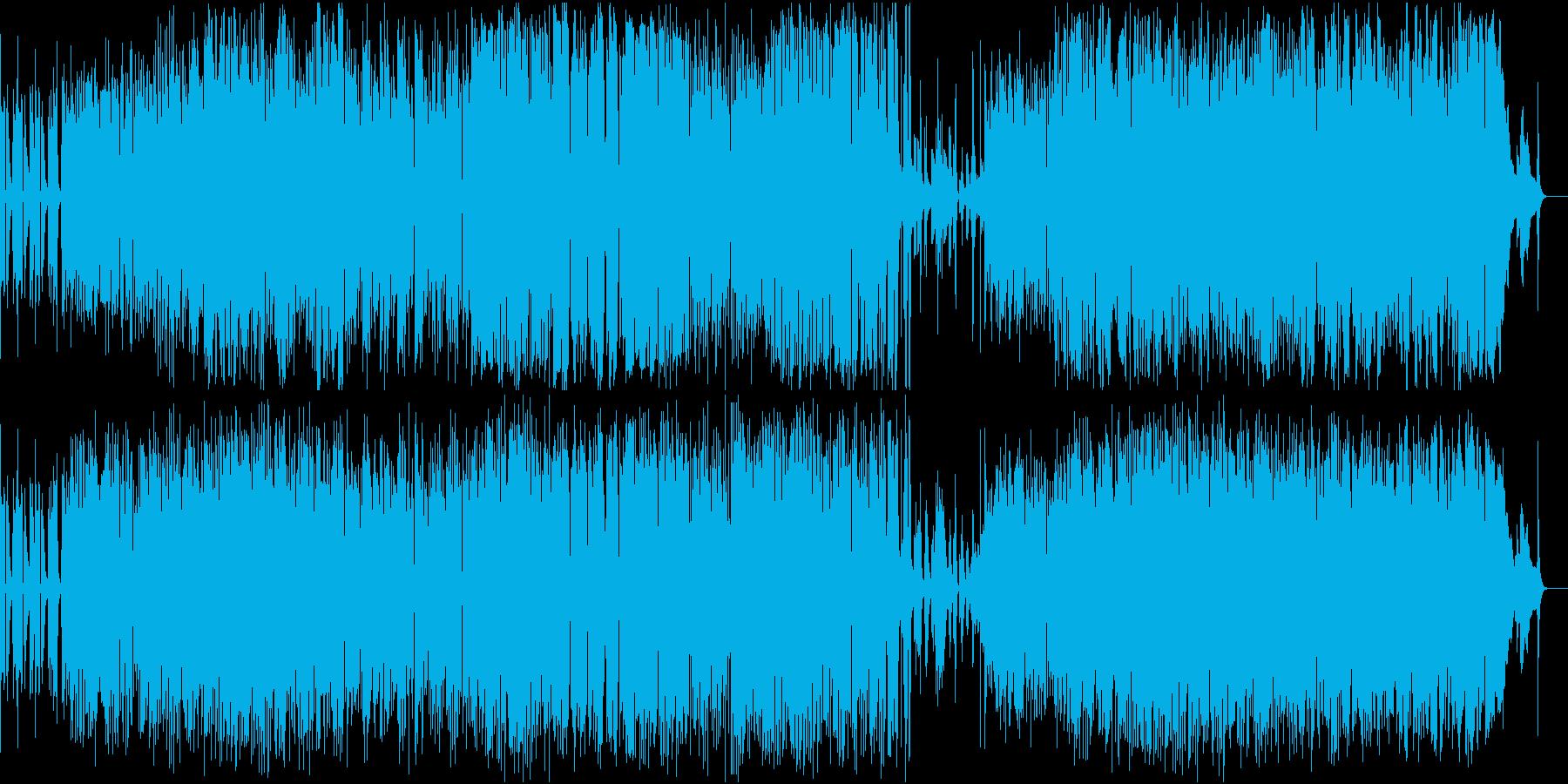 ダブルで一気にの再生済みの波形