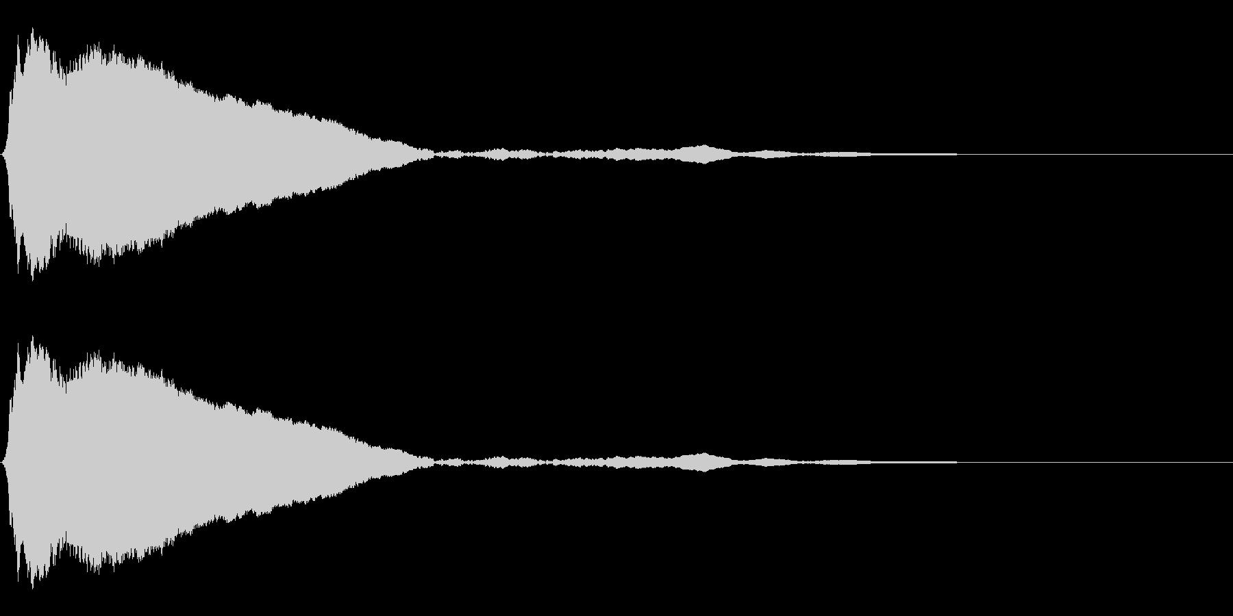 タップ、クリック(ピィッ)の未再生の波形