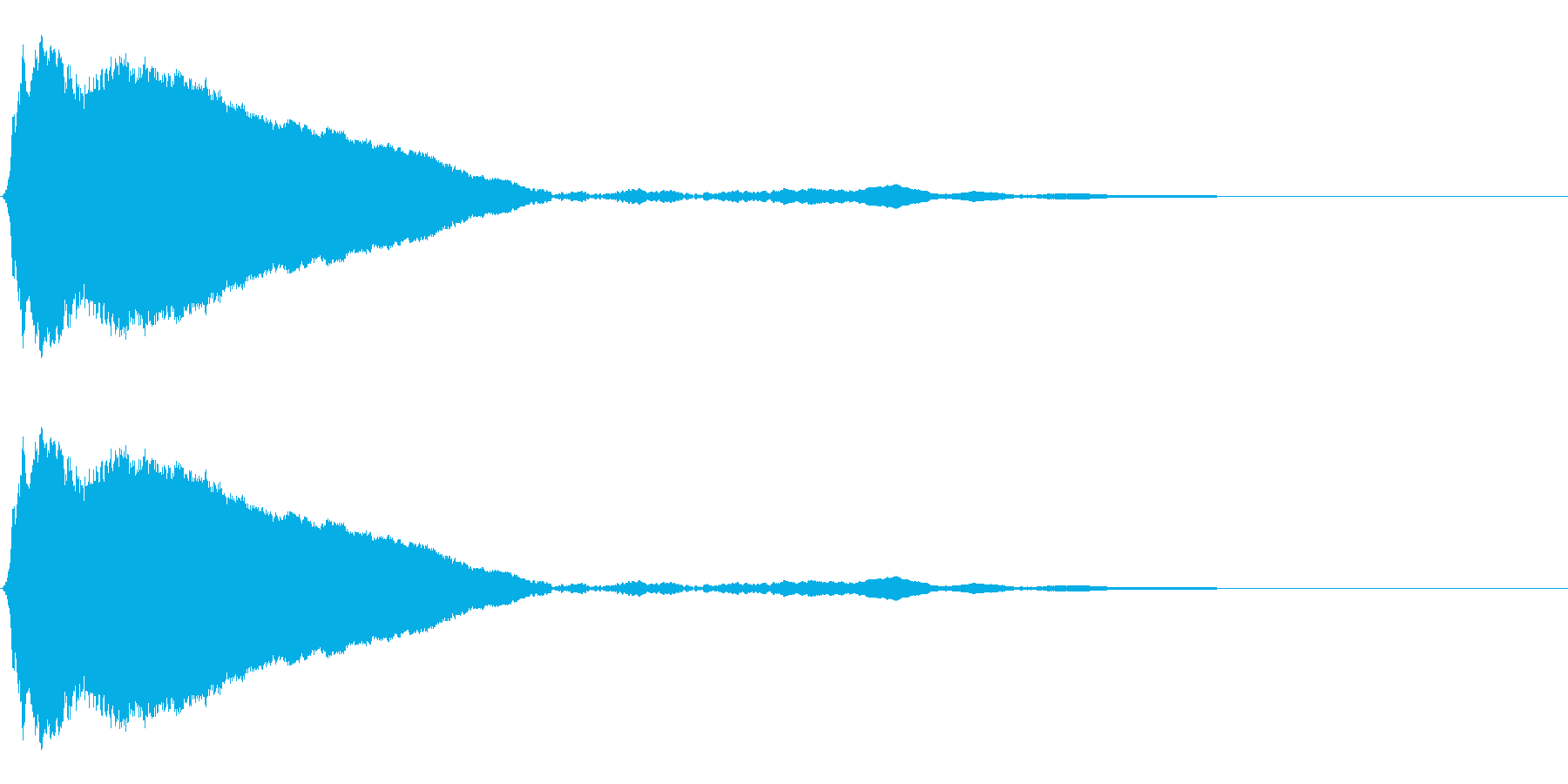 タップ、クリック(ピィッ)の再生済みの波形