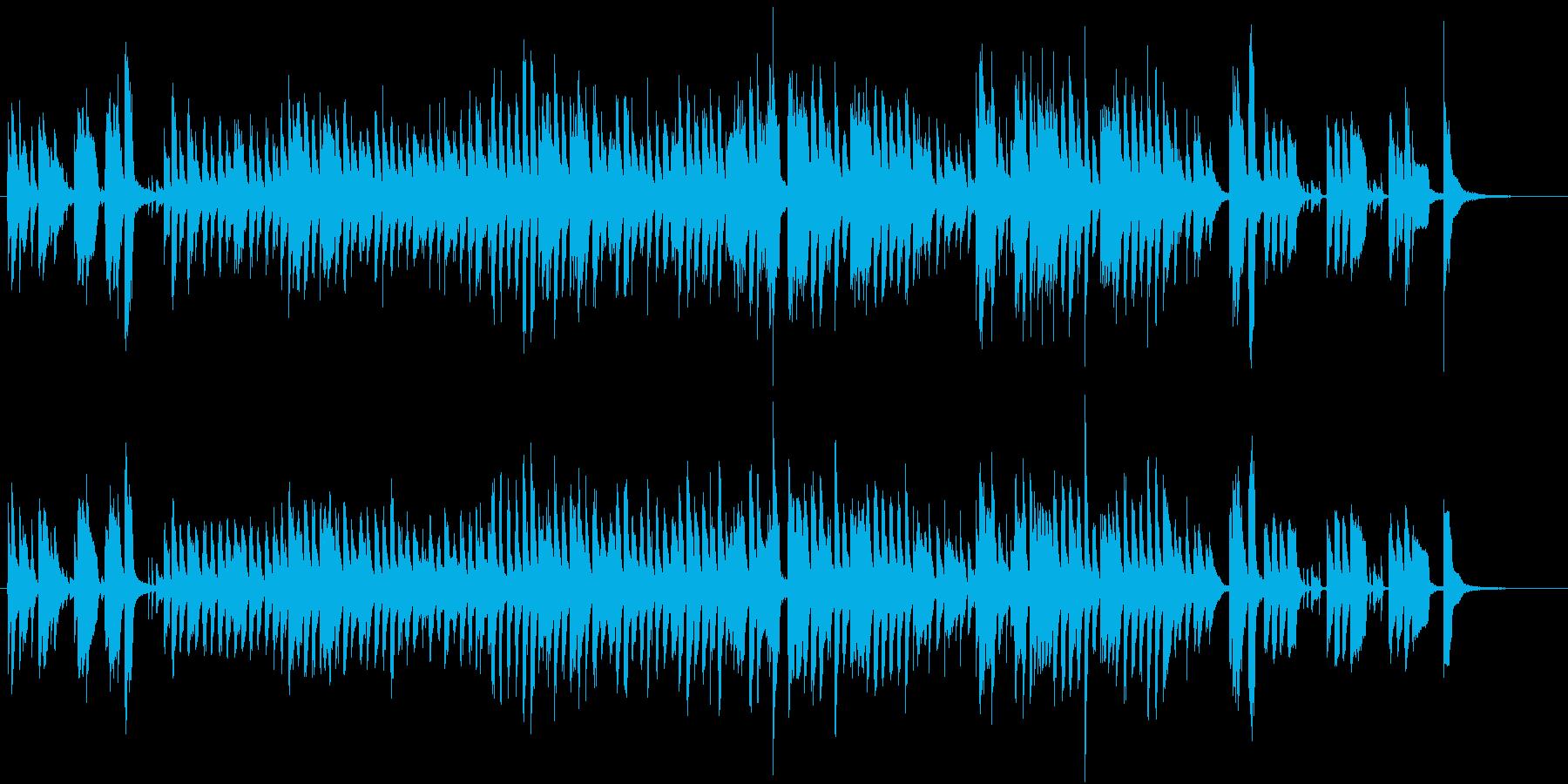 楽しいBGM(ドビッシーケルクウォーク)の再生済みの波形