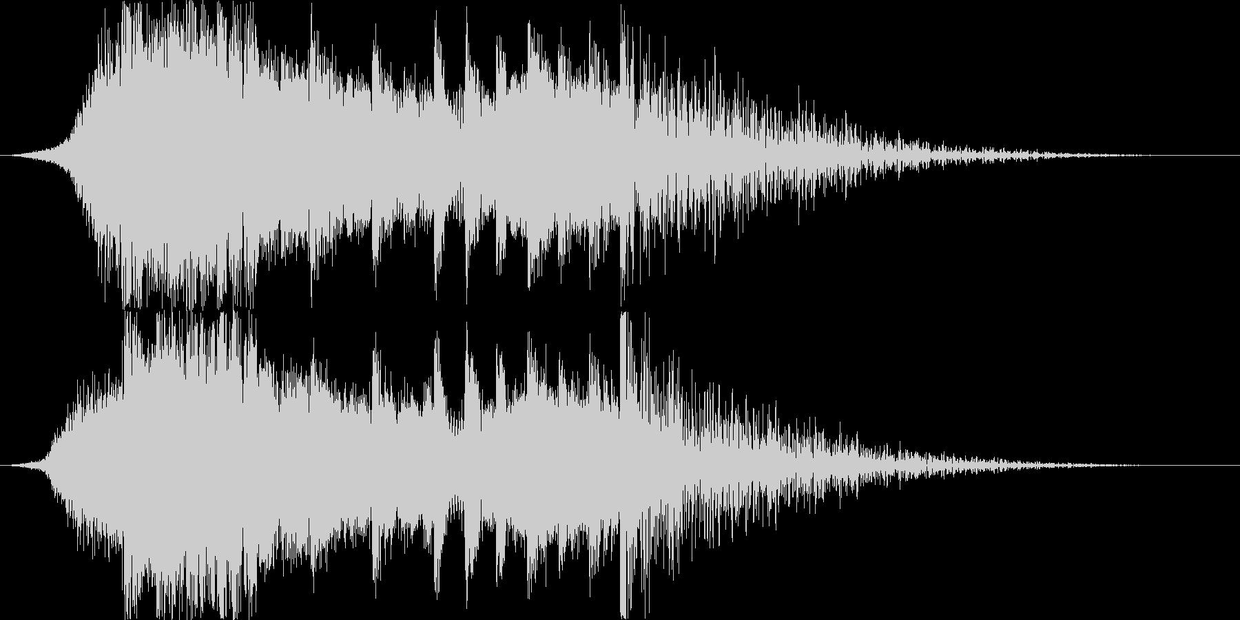 ドラムとピアノが印象的なダブステップの未再生の波形