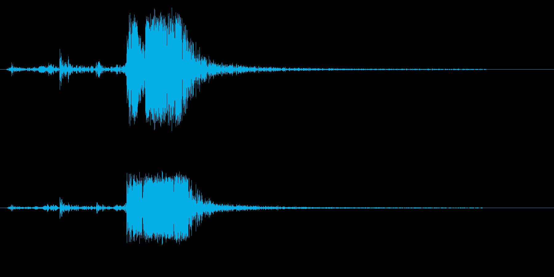ガチャ(扉が閉まる音)の再生済みの波形