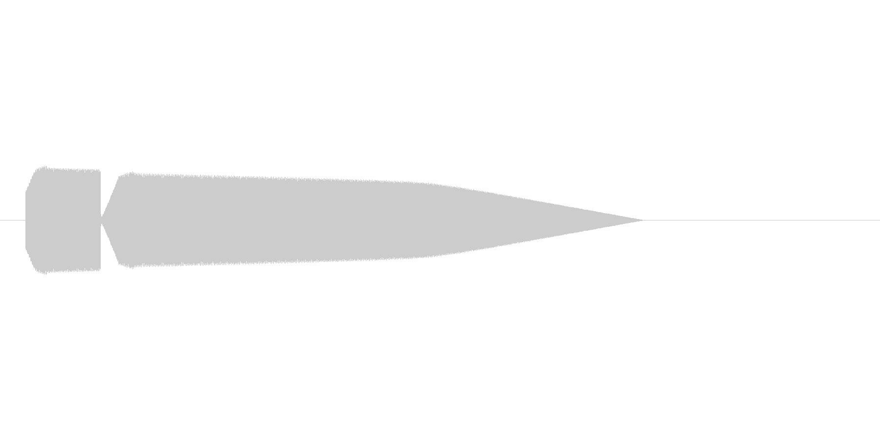 8bitの氷魔法1 ピキーンの未再生の波形