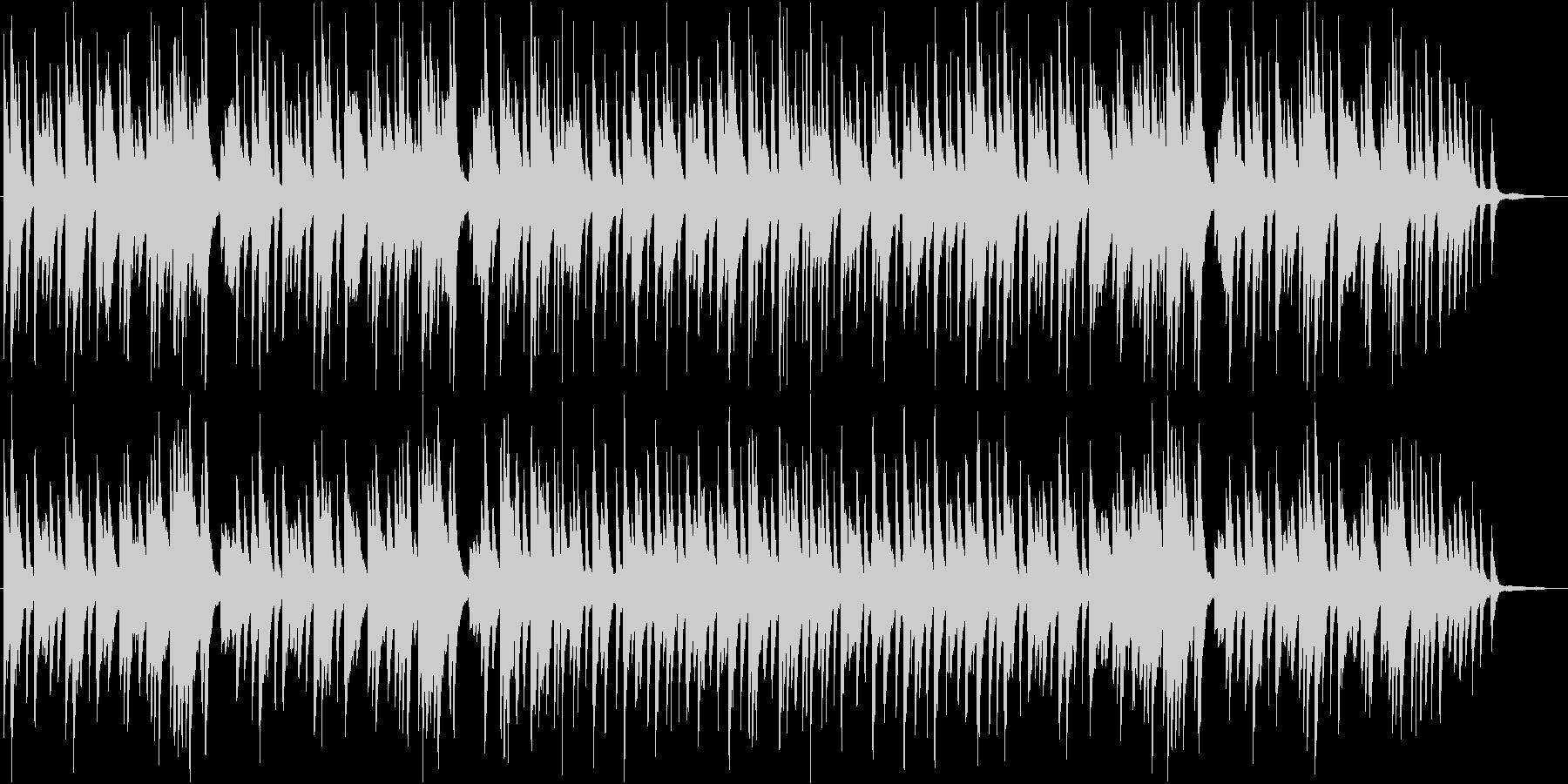 冬の日曜の朝のような雰囲気のピアノBGMの未再生の波形