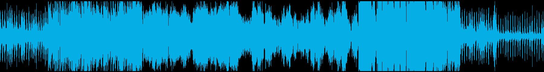 ゲームフィールドに合いそうな曲ループ版の再生済みの波形