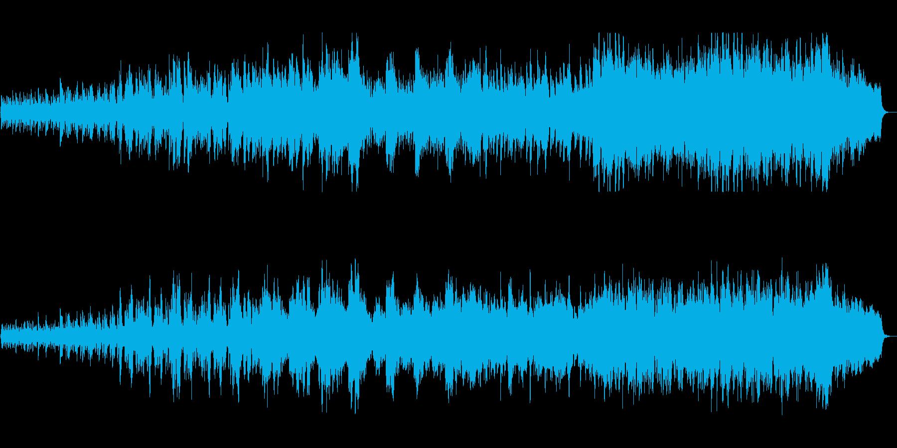 いきいきしている大自然のストリングス曲の再生済みの波形