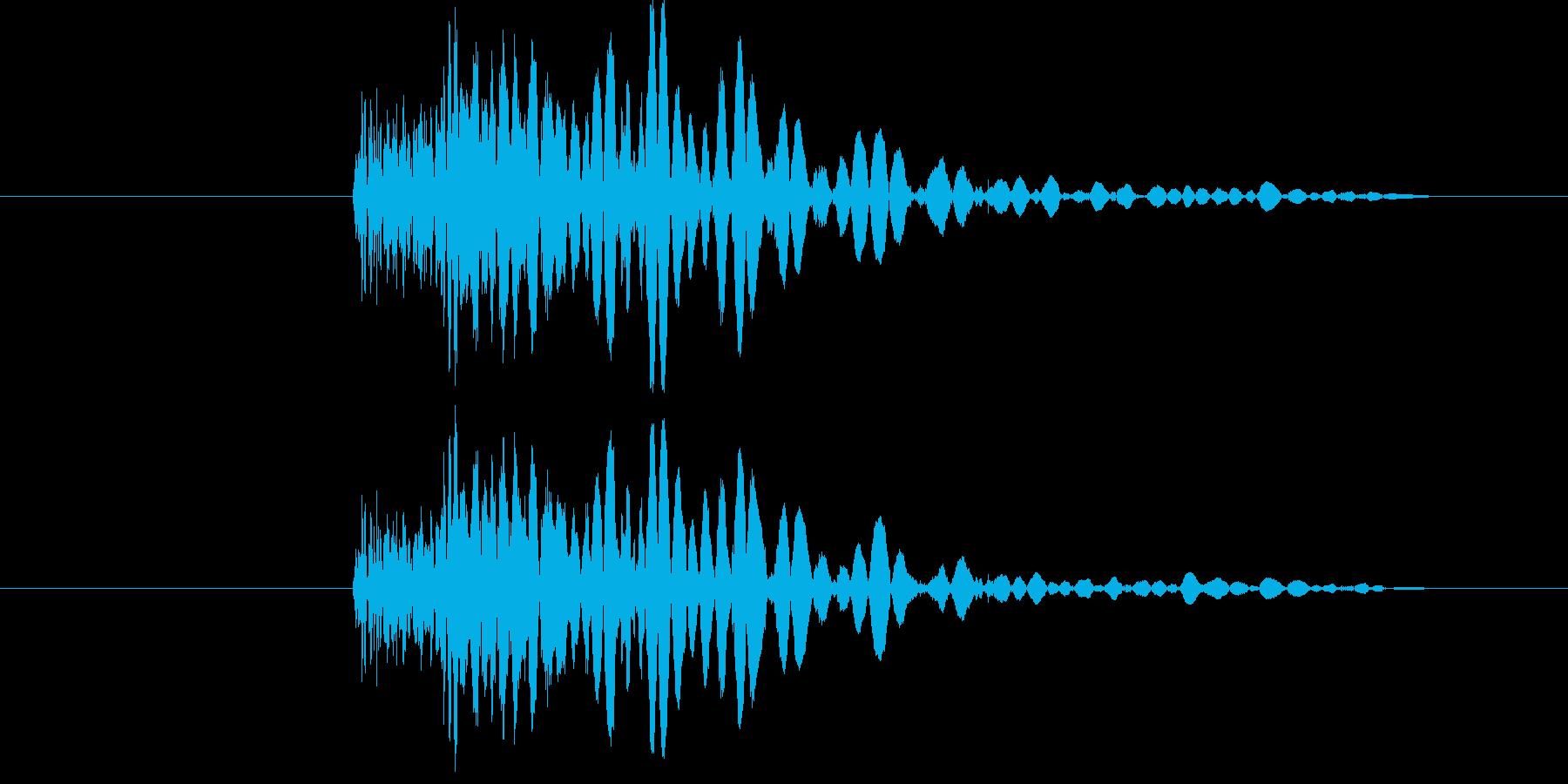 ドゲシっの再生済みの波形