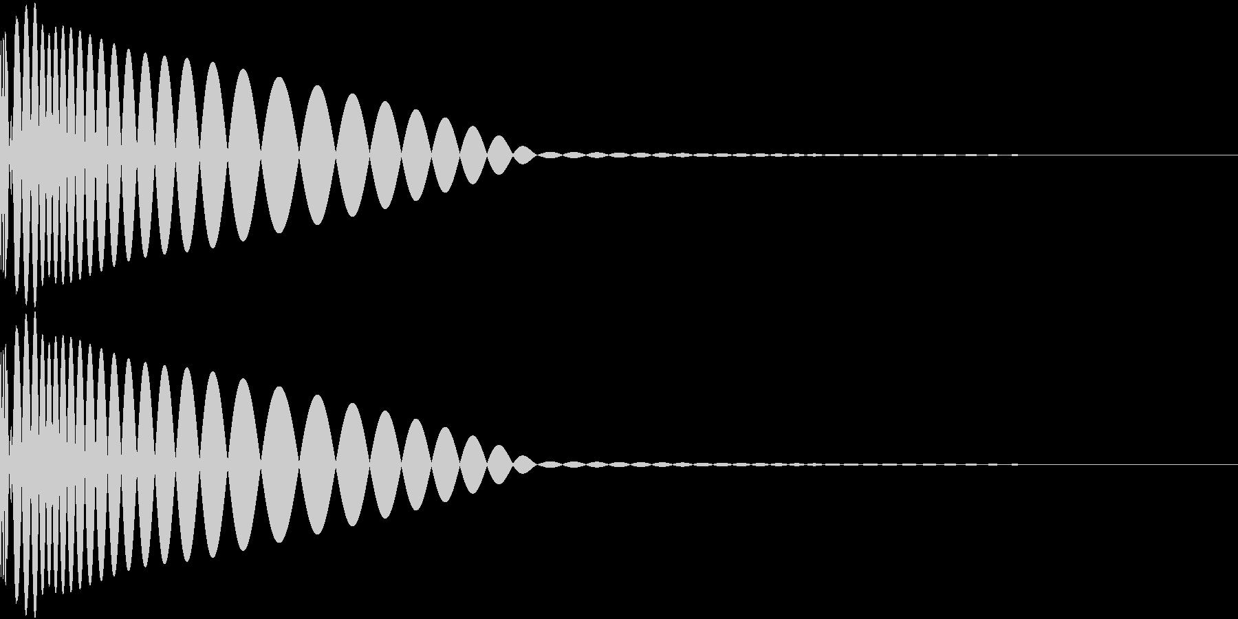 DTM Kick 3 オリジナル音源の未再生の波形