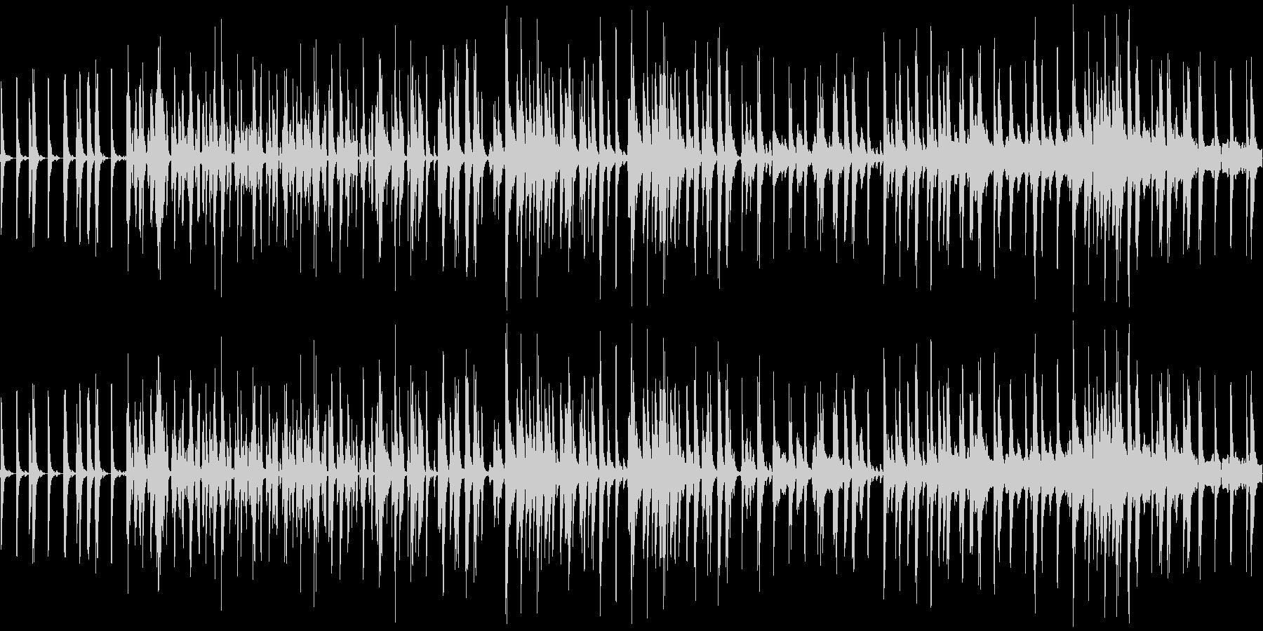 和風なBGMの未再生の波形