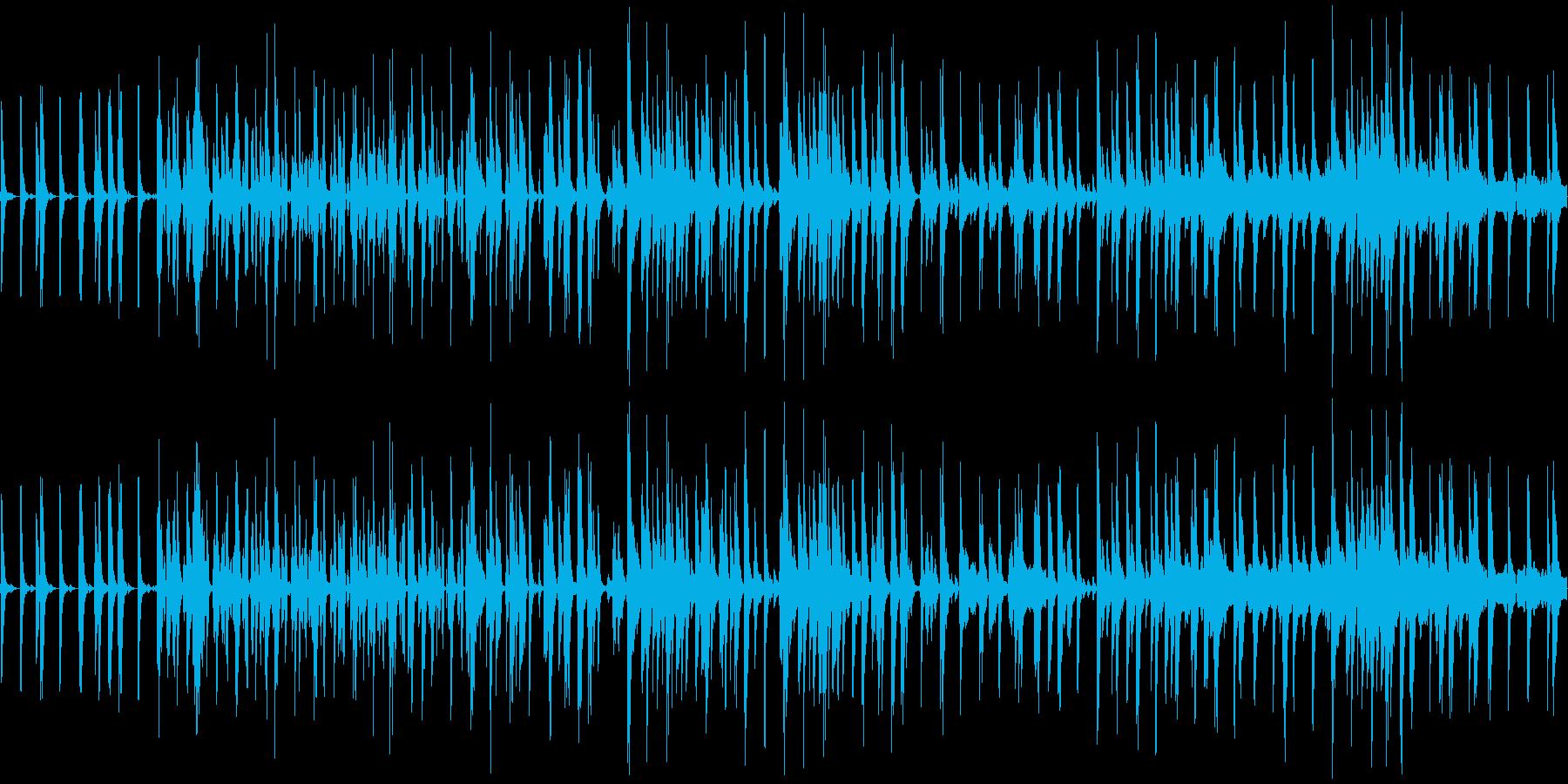 和風なBGMの再生済みの波形