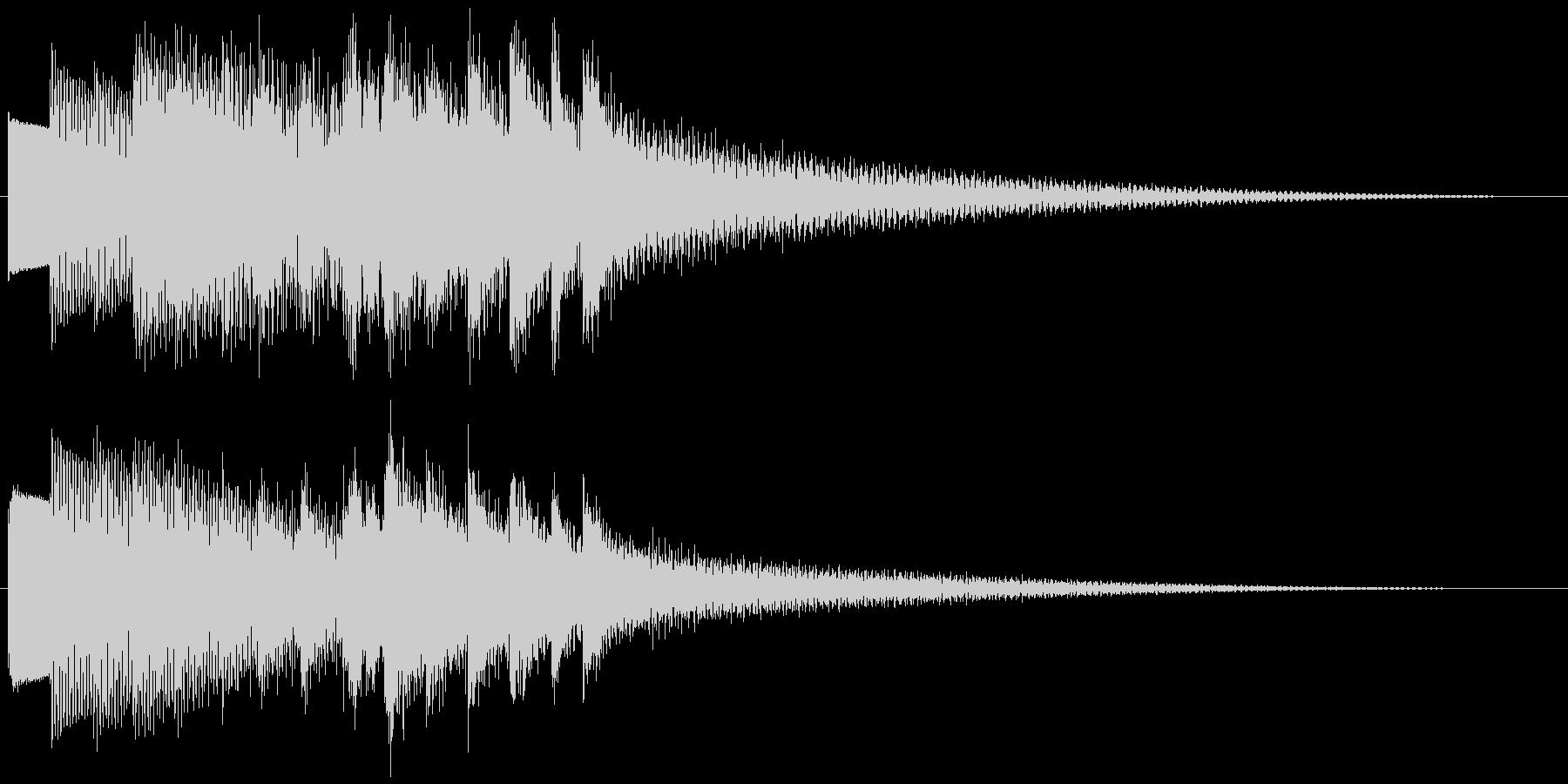 キラキラーン ゆっくり下降(鉄琴風)の未再生の波形