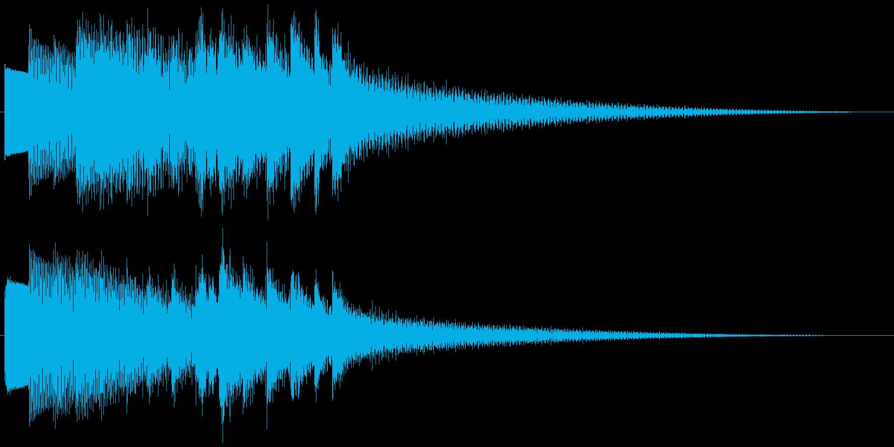 キラキラーン ゆっくり下降(鉄琴風)の再生済みの波形