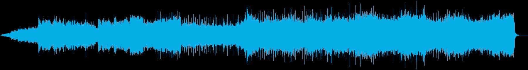 コーラスとギターを使ったBGMの再生済みの波形