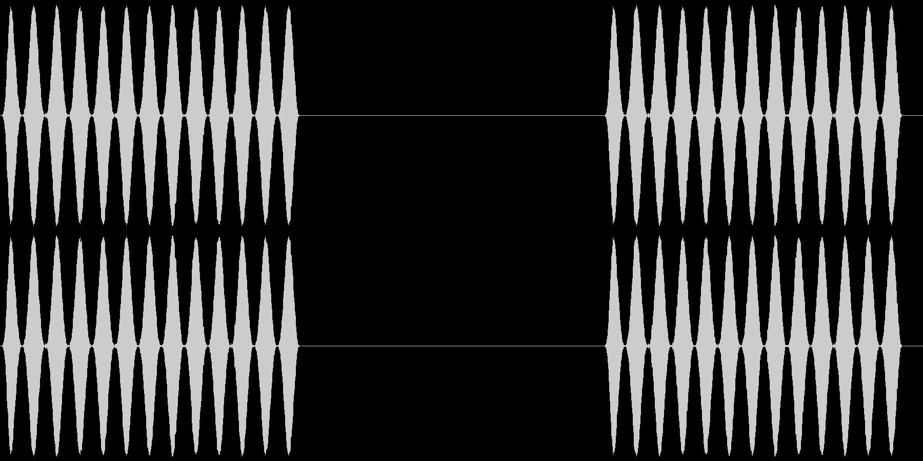 電話 呼び出し音 プルルルル×2 客観風の未再生の波形