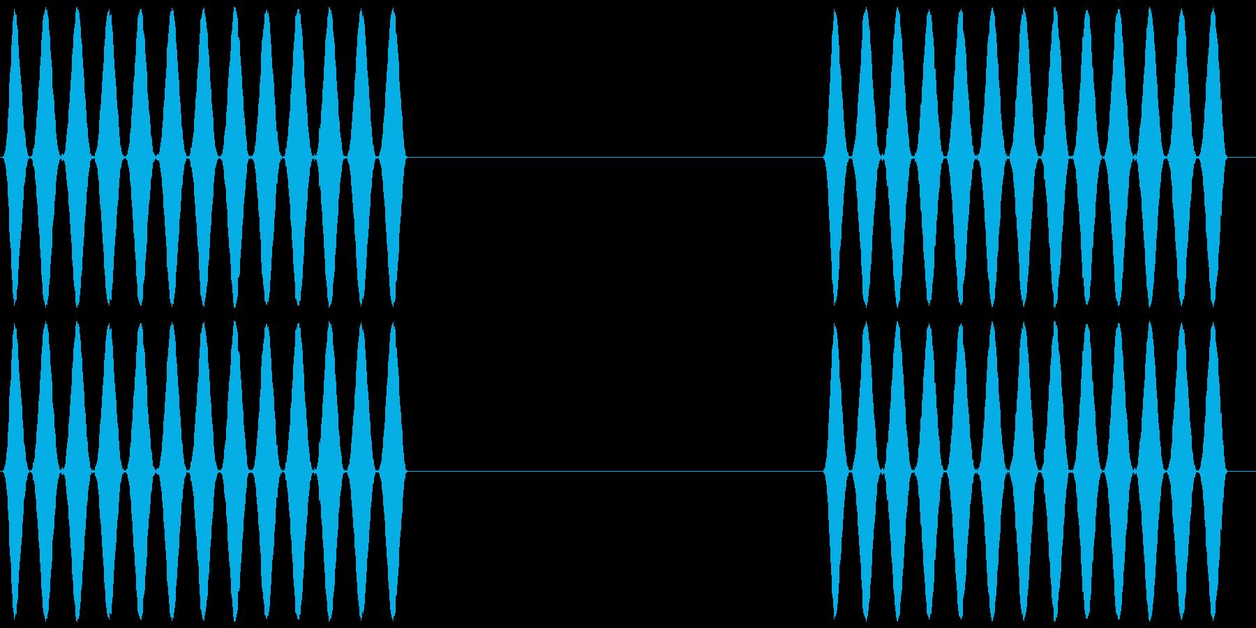 電話 呼び出し音 プルルルル×2 客観風の再生済みの波形