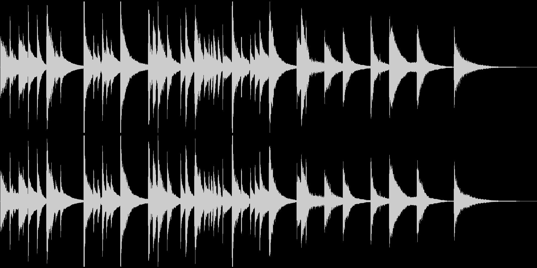 アコギとスチールギターのBGMの未再生の波形