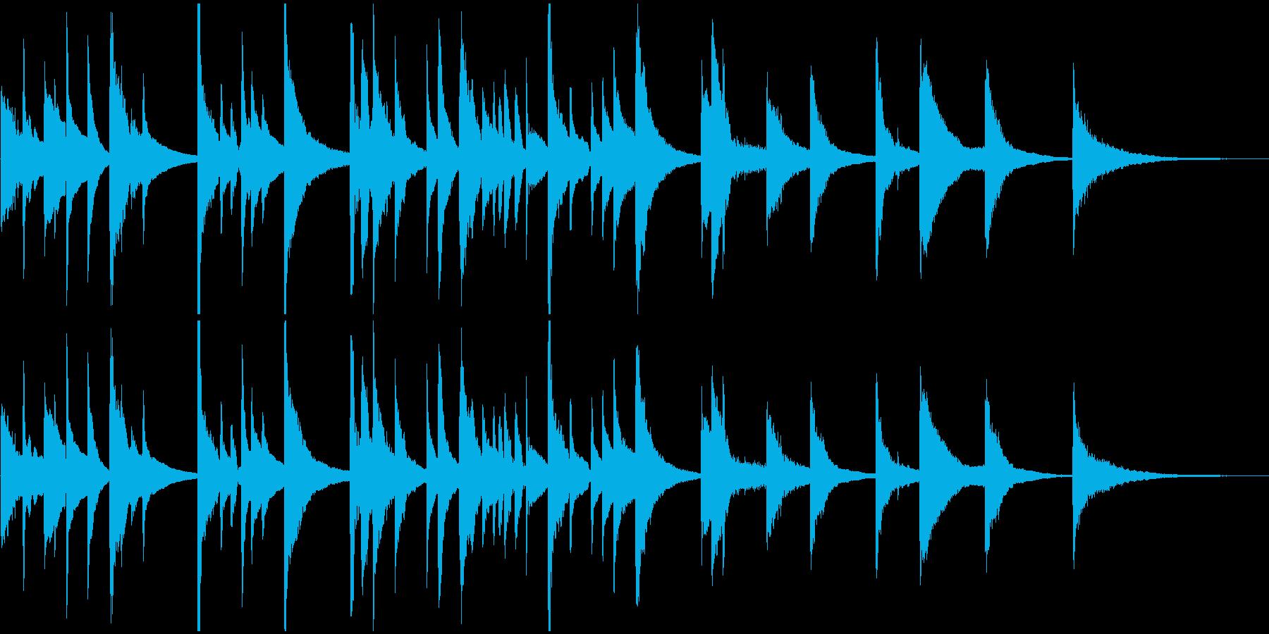 アコギとスチールギターのBGMの再生済みの波形