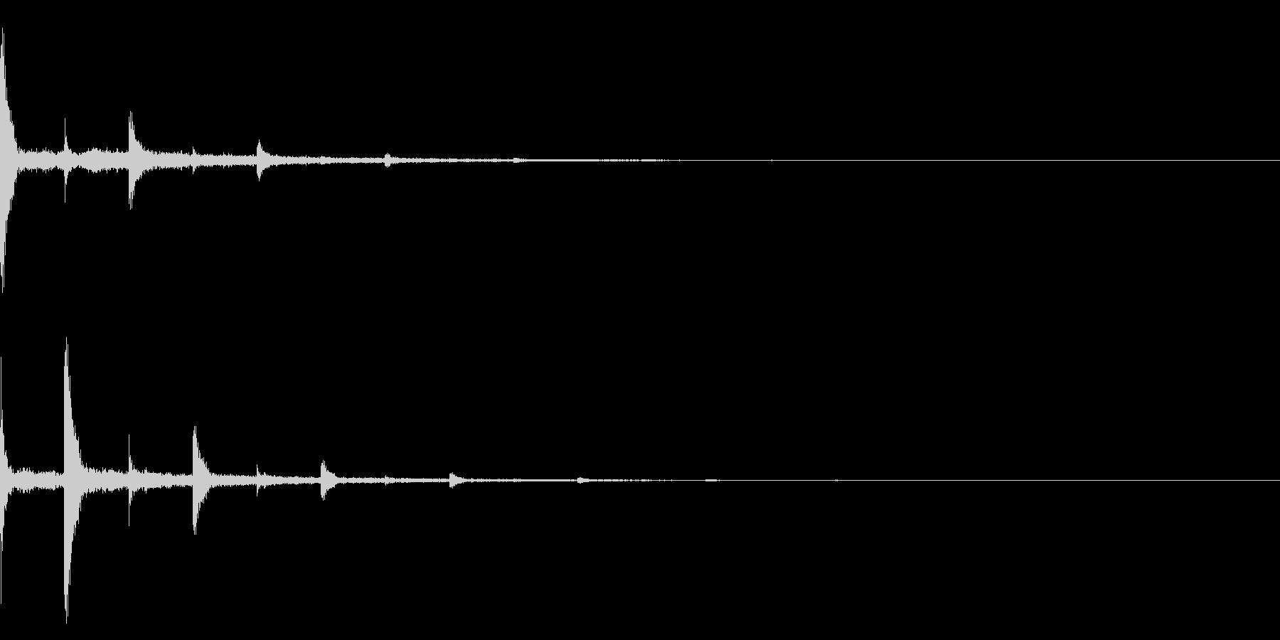 ピアノの響き2 波紋 疑問 静寂 トーンの未再生の波形