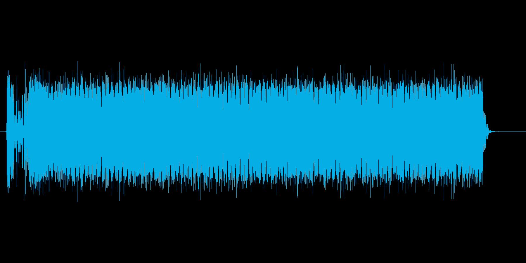 強力なビーム攻撃を放つ効果音の再生済みの波形