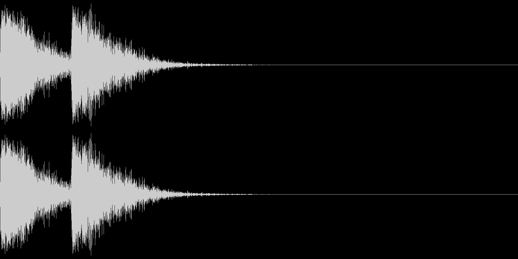 【SE】攻撃音02ヒット2発(ビビシー)の未再生の波形