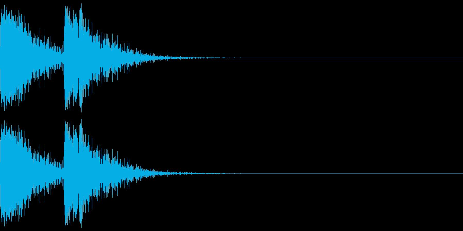 【SE】攻撃音02ヒット2発(ビビシー)の再生済みの波形