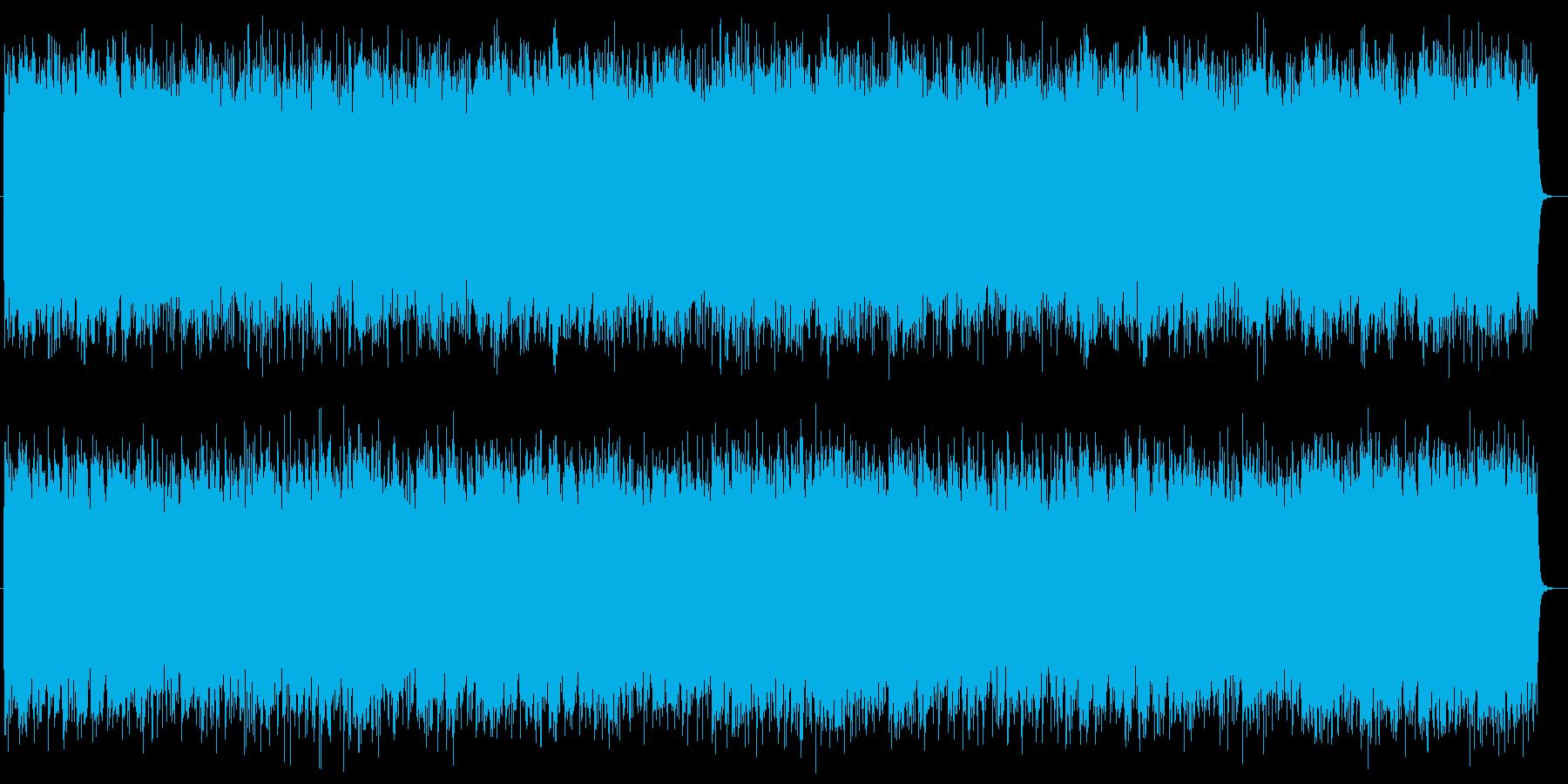 ワイルドでヘビーなシンセとエレキサウンドの再生済みの波形