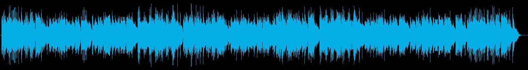 優しいピアノバラードの再生済みの波形