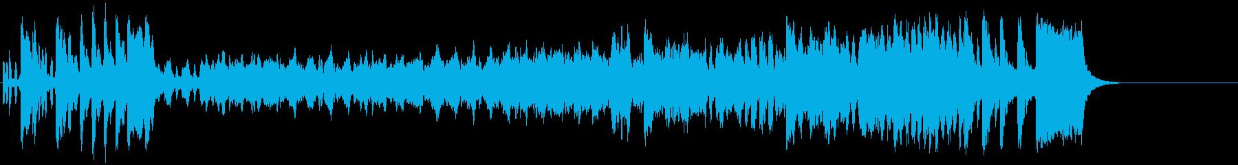 ウインナ・ワルツ風クラシック楽曲の再生済みの波形