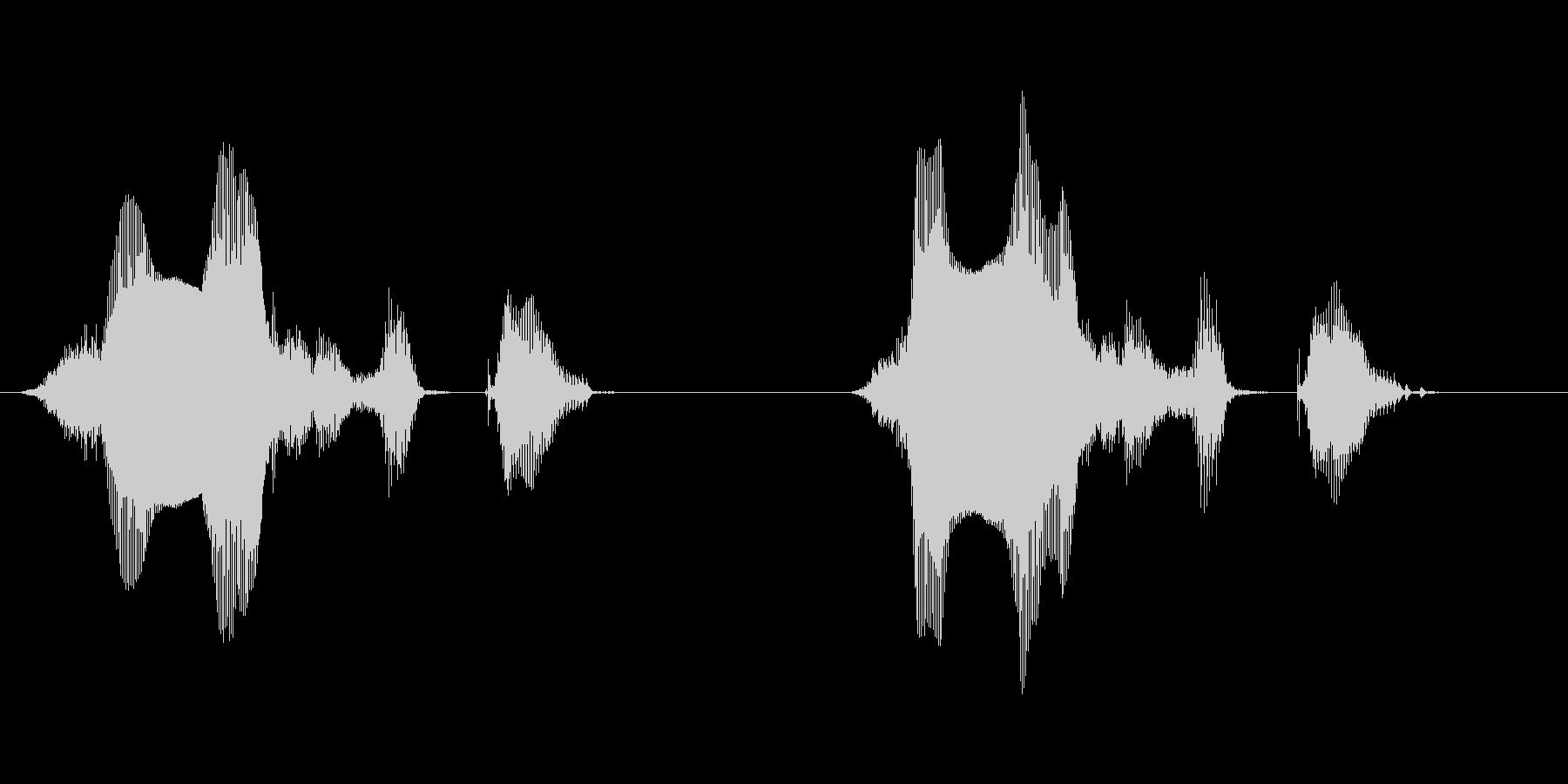侵入者発見 女性の固めの音声の未再生の波形