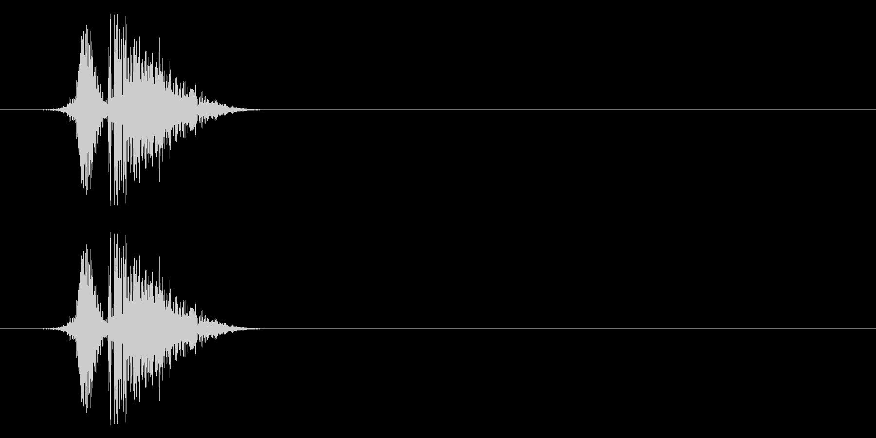 打撃08-3の未再生の波形
