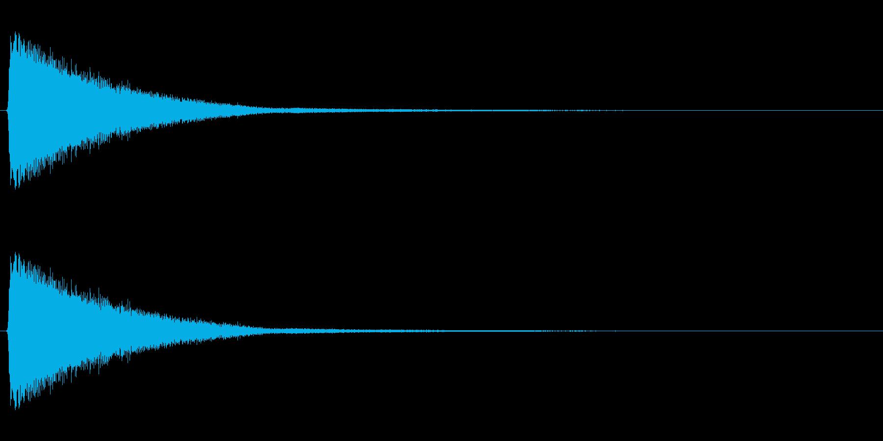 アイテムを使用した時の効果音ですの再生済みの波形