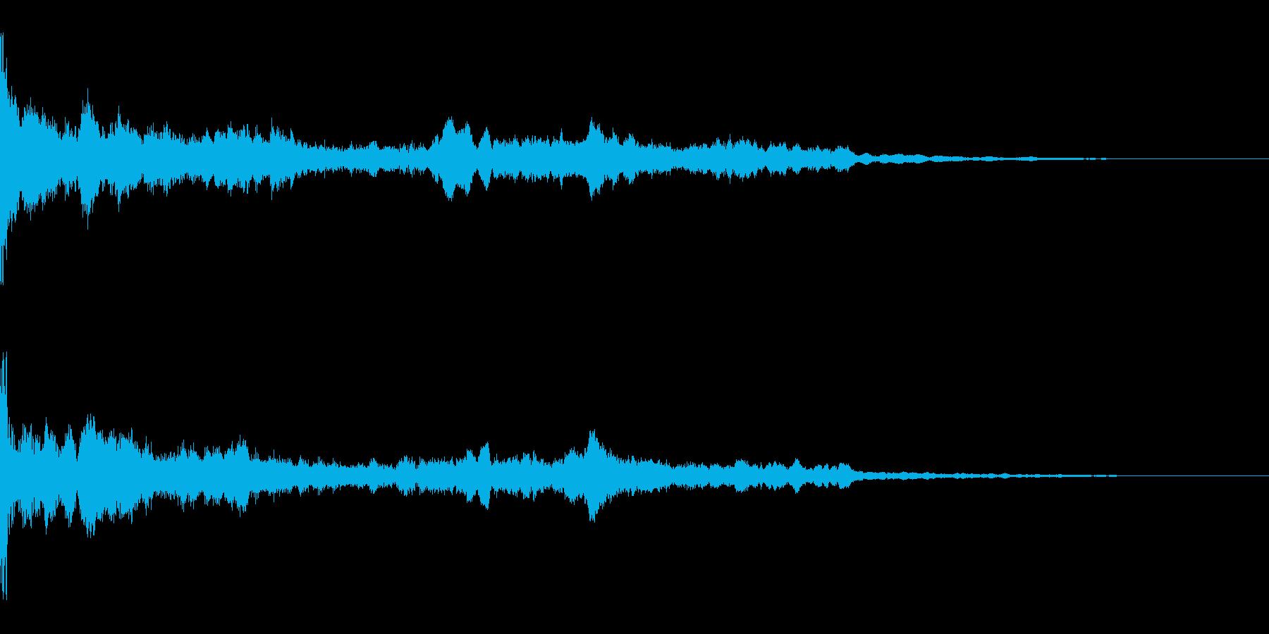 ホラーのようなBGMの再生済みの波形