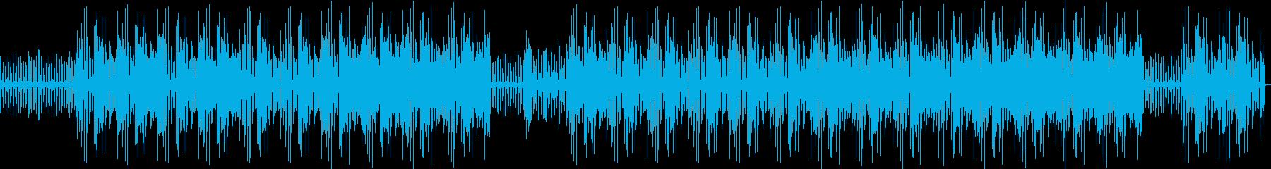 軽やかなヒップホップの再生済みの波形