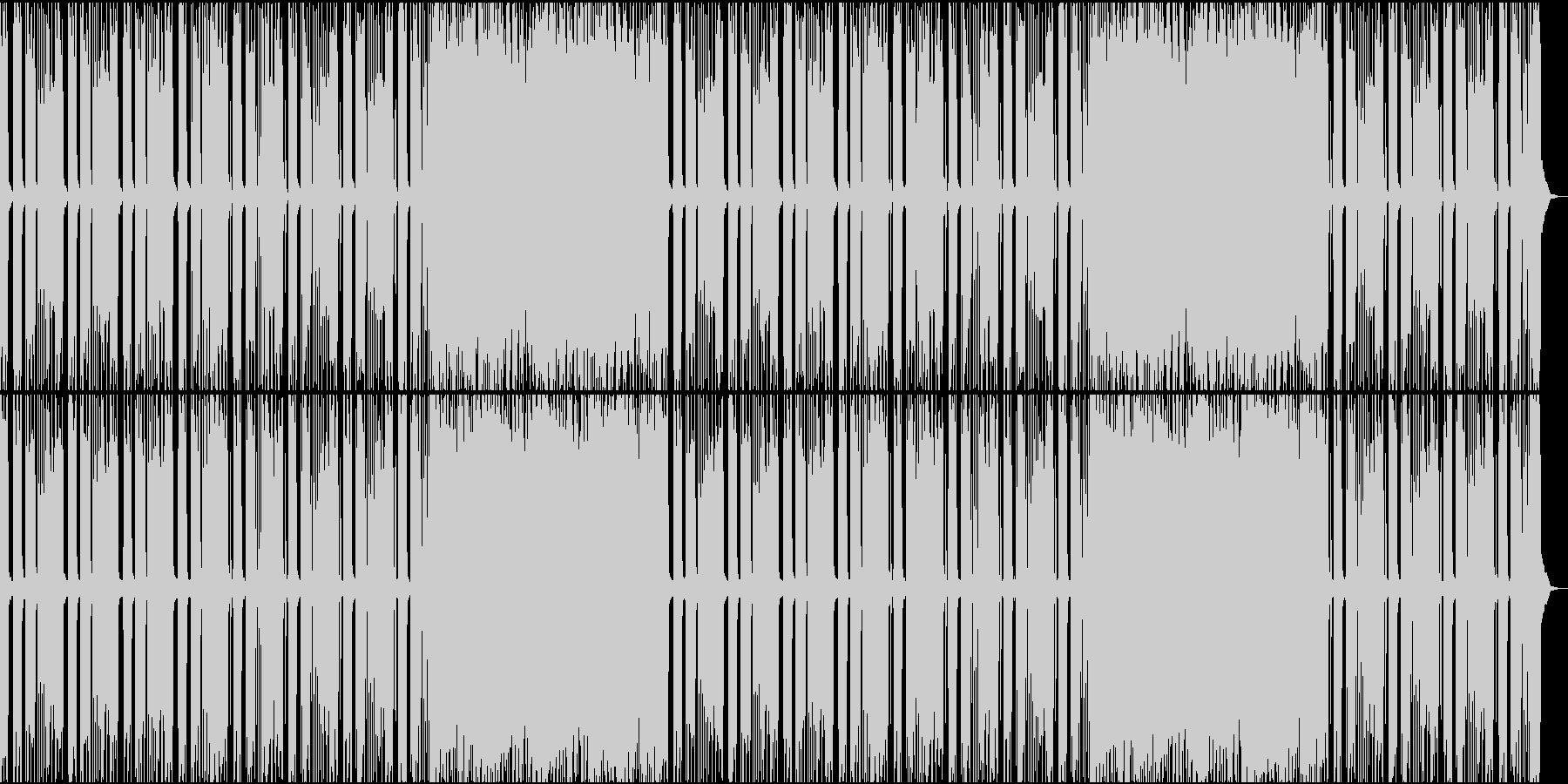シンプルで荒々しいロックの未再生の波形