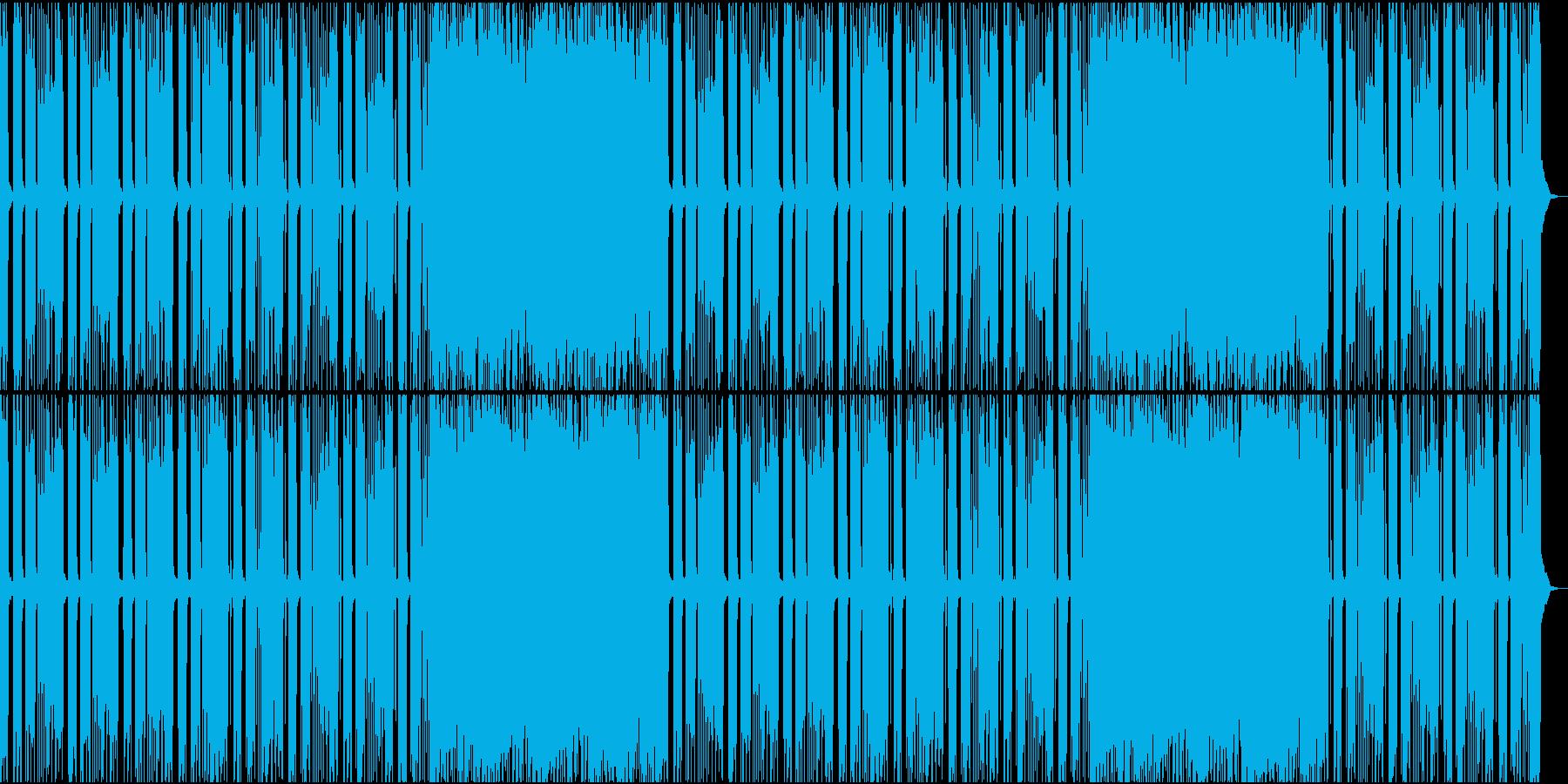 シンプルで荒々しいロックの再生済みの波形
