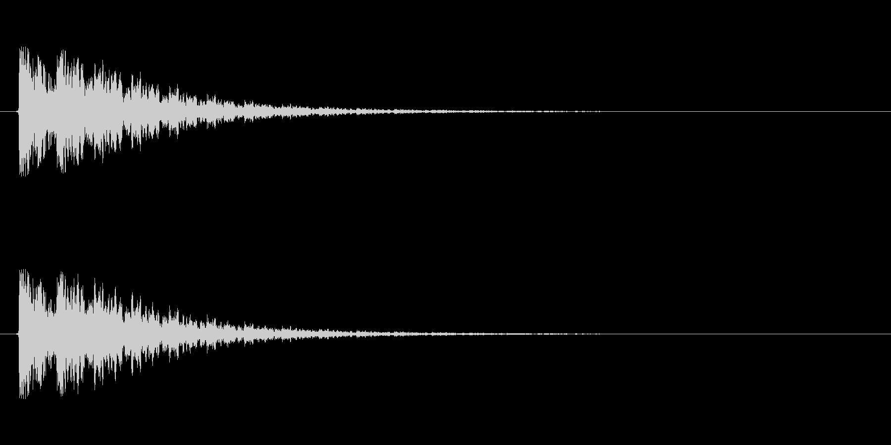 【衝撃06-3】の未再生の波形