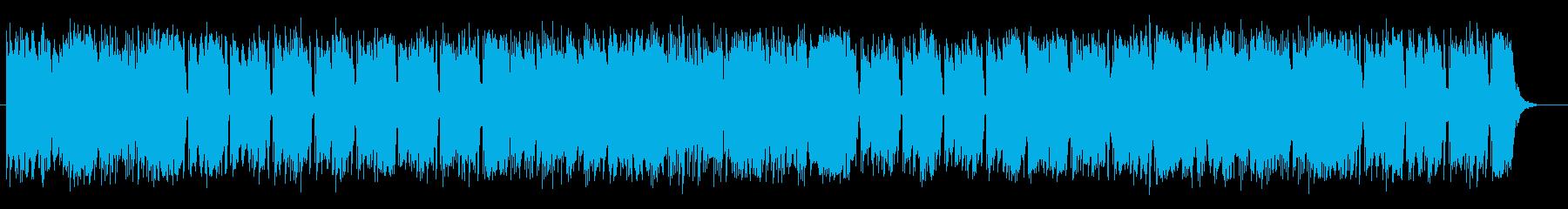 明るく軽快で弾みのあるシンセサイザー曲の再生済みの波形