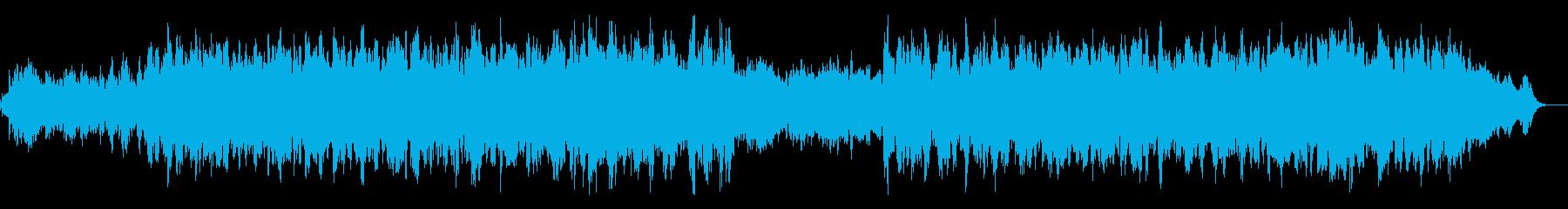 リラクゼーション最適なアンビエントBGMの再生済みの波形