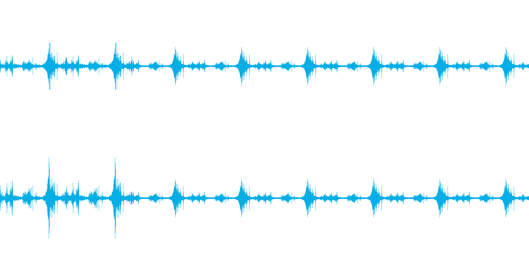 海面の音-2の再生済みの波形