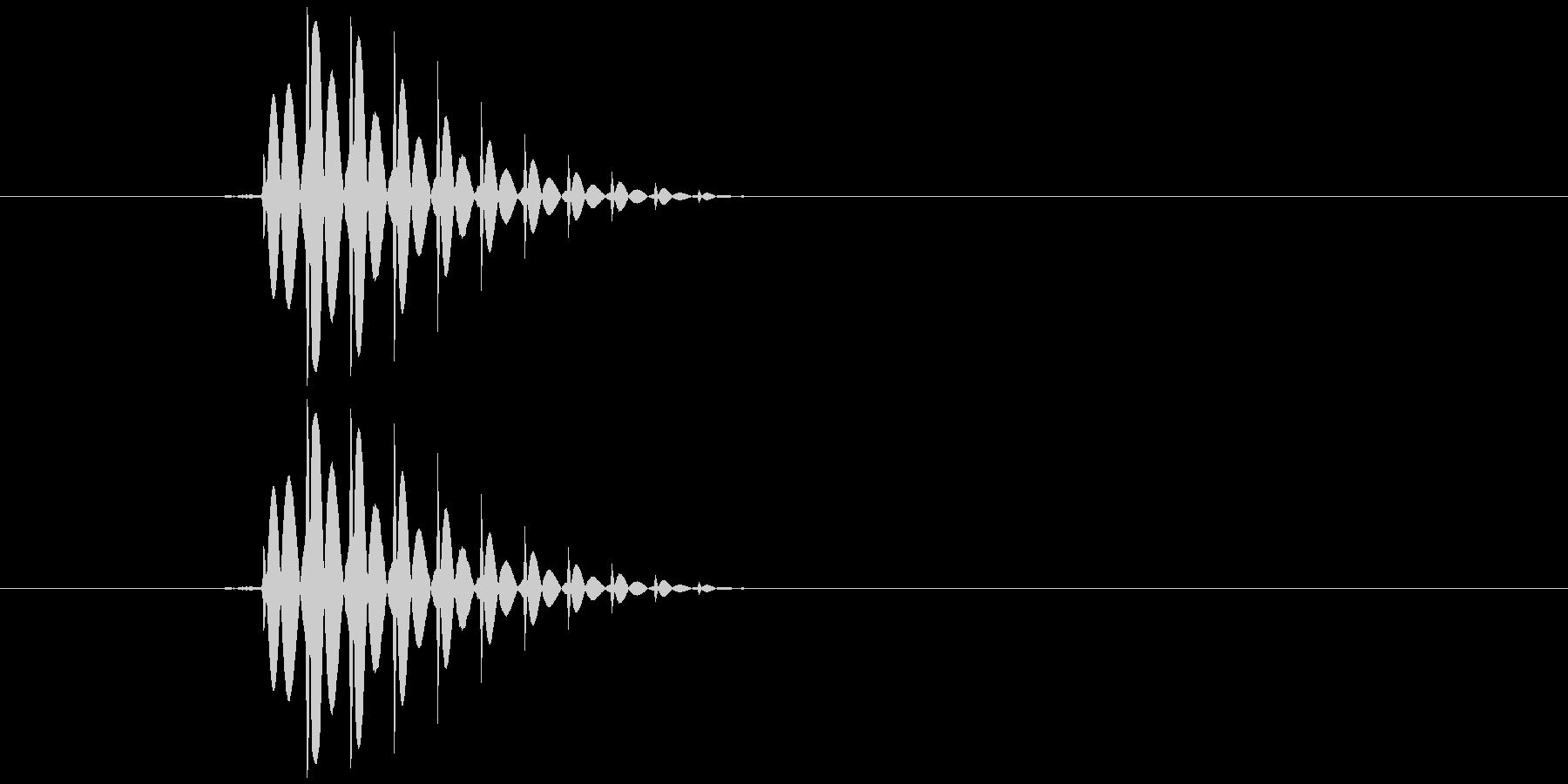 ゲームのカーソル音ですの未再生の波形