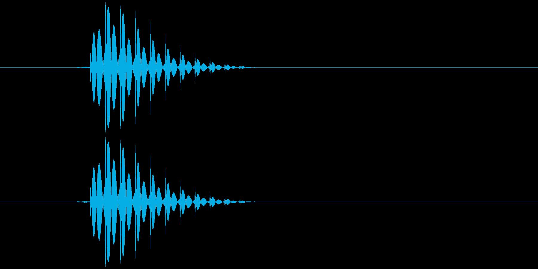ゲームのカーソル音ですの再生済みの波形